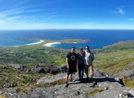 Hiking in Connemara during our 8 Day Explorer Tour. Beyond the Glass Adventure Tour on Ireland's Wild Atlantic Way.