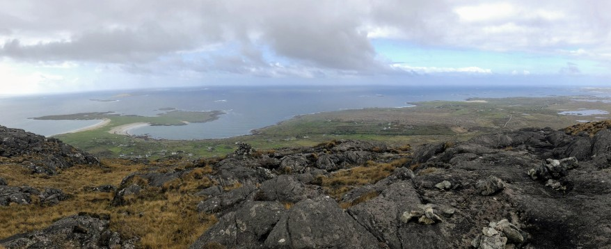 View from Errisbeg, Co Galway. Beyond the Glass Adventure Tour on Ireland's Wild Atlantic Way.