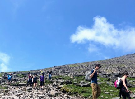 Hiking on Carrauntoohil Ireland's Highest Mountain. 5 Day Hiking Tour on Ireland's Wild Atlantic Way.